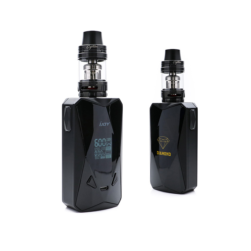 Original IJOY Diamond PD270 Kit include dual 20700 box mod with 4.2ml Captain X3S Tank atomizer E-Cigarettes