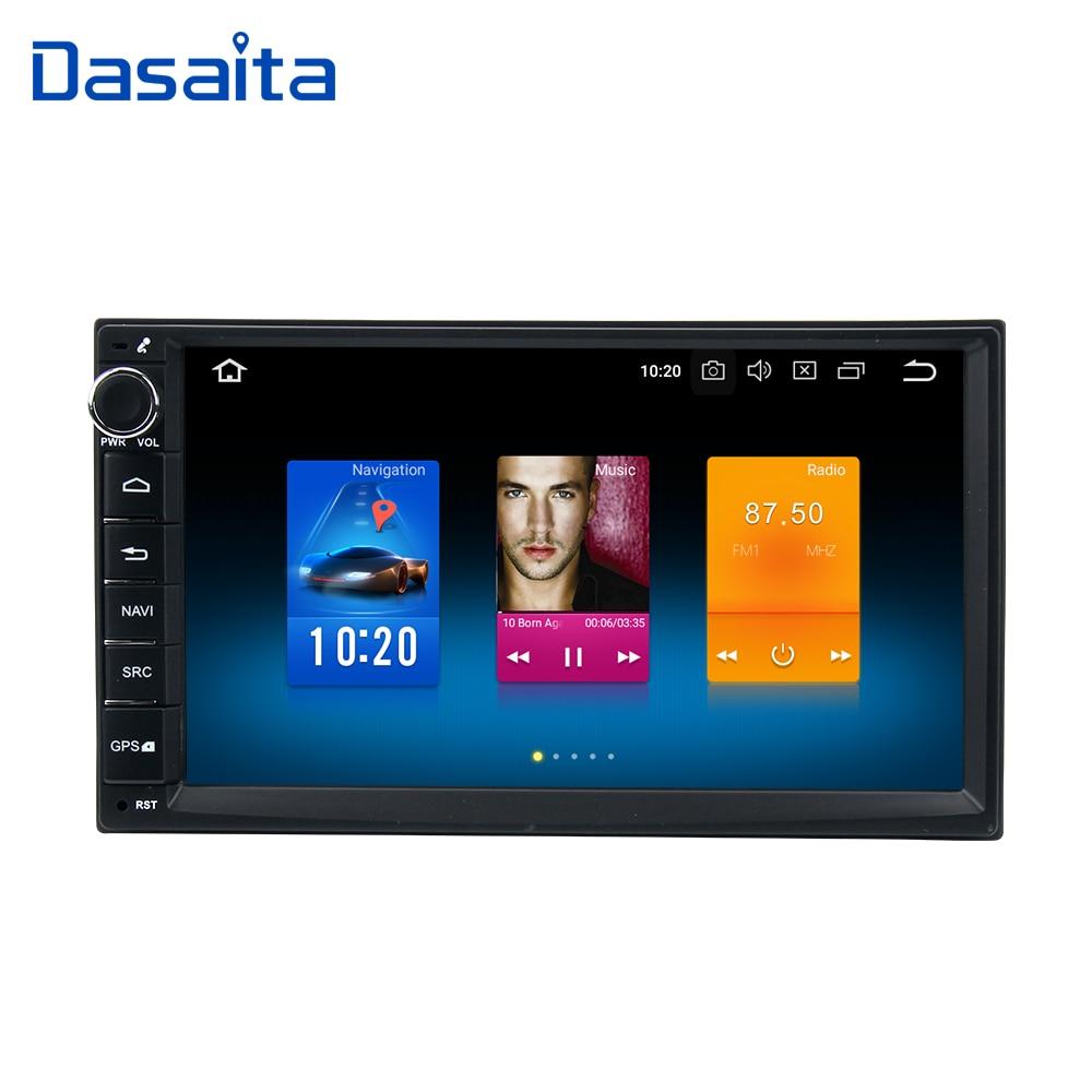 Dasaita Android 8.0 voiture double din voiture radio 4*50 w universel pour Nissan Qashqai X-trail Patrouille tiida Versa Livina Navara NP300