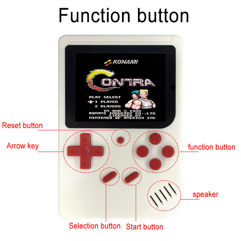 Mini Handheld Game Player Built-in 300 Games 3.0 inch  TFT Color Screen Game Console Classic Portable Game Player Kid Gift