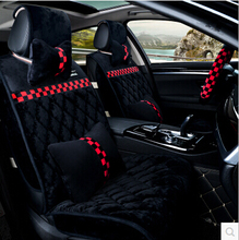 Good! Universal car seat covers & steering wheel cover for Volkswagen Touareg 2015-2009 winter durable seat covers,Free shipping