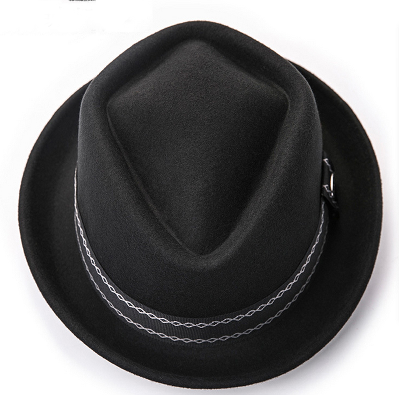 25ab8f89183343 ... Sunlynn winter Women Bowler Hat Men Woolen Fedora Vintage Short Brim  Crushable Jazz Hat/Felt ...