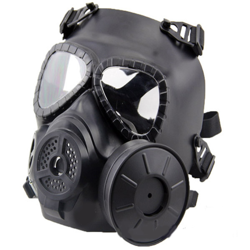 Full Face Comfortable Protector Safety Fan Masks Protective Airsoft Paintball War Game Paintball Gas Mask protective outdoor war game military tactical full face shield mask black