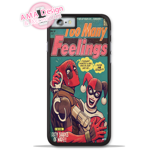 Deadpool Harlei Quinn Comics Phone Cover Case For Apple iPhone X 8 7 6 6s Plus 5 5s SE 5c 4 4s For iPod Touch