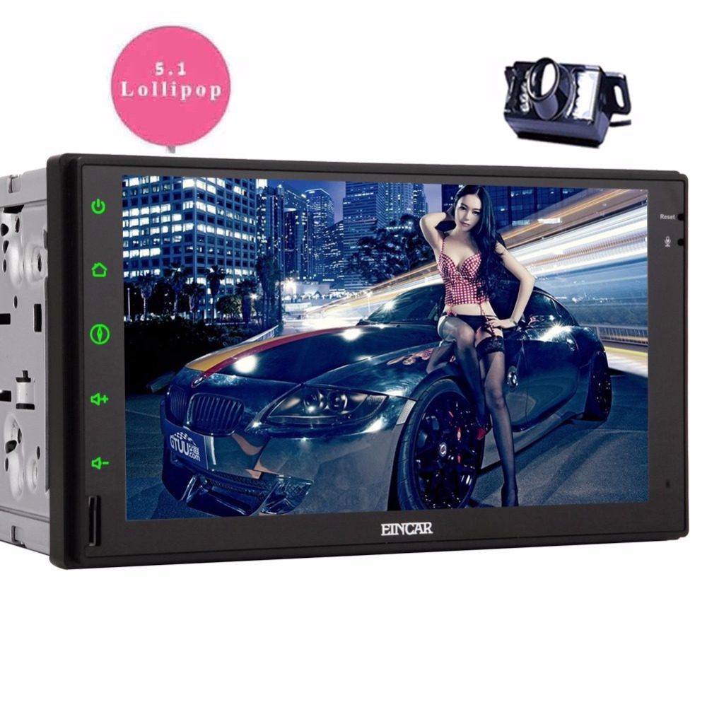 Android 5.1.1 2 din Touch Screen GPS Car Stereo Double Din Navigation Vehicle Audio AM FM Radio Bluetooth/WiFi/1080P/phone link