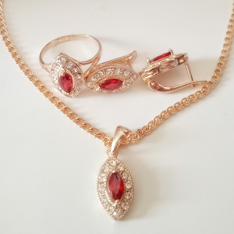 Aliexpress Com Buy New Fashion Necklace Earrings Bridal: Aliexpress.com : Buy 1Set Luxurious Wedding Jewelry Sets