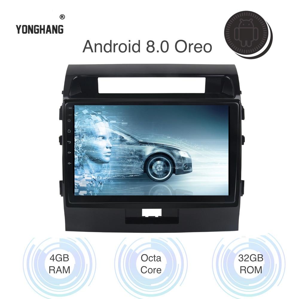 Voiture Radio GPS Android 8.0/7.1 pour Toyota Land Cruiser Multimédia LC200 2008-2013 Autoradio 10.2 IPS écran 4g LTE WIFI 8-Core