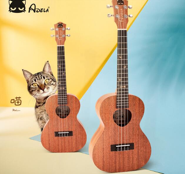 SUERTE Adela Ukulele Solid Mahogany Plywood back and side 4 string guitar Soprano concert Tenor with Bag soprano concert tenor ukulele bag case backpack read item description carefully separate to buy this product is only one bag