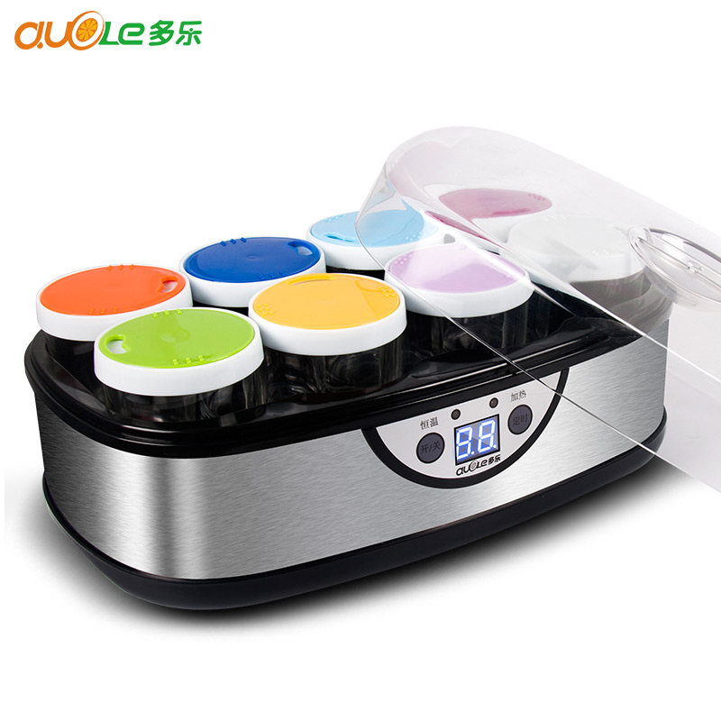 DL-4005 Self Made Yogurt Machine Home Fully Automatic 8 Glass Sub-cup Liner High Capacity Fermentation Machine Yogurt Maker natto yogurt makers household fully automatic yogurt machine with glass liner timing rice wine machine 4 sub cup green