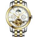 Garantia 12 meses! turbilhão relógios homens de luxo relógios mecânicos GUANQIN safira À Prova D' Água 100 m homens da forma do relógio horas
