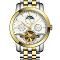Garantizado 12 meses! GUANQIN Tourbillon relojes de los hombres de lujo relojes mecánicos de zafiro Resistente Al Agua 100 m moda hombre reloj horas