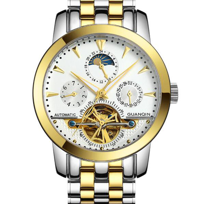 Guaranteed 12 month Tourbillon font b watches b font luxury men mechanical font b watches b