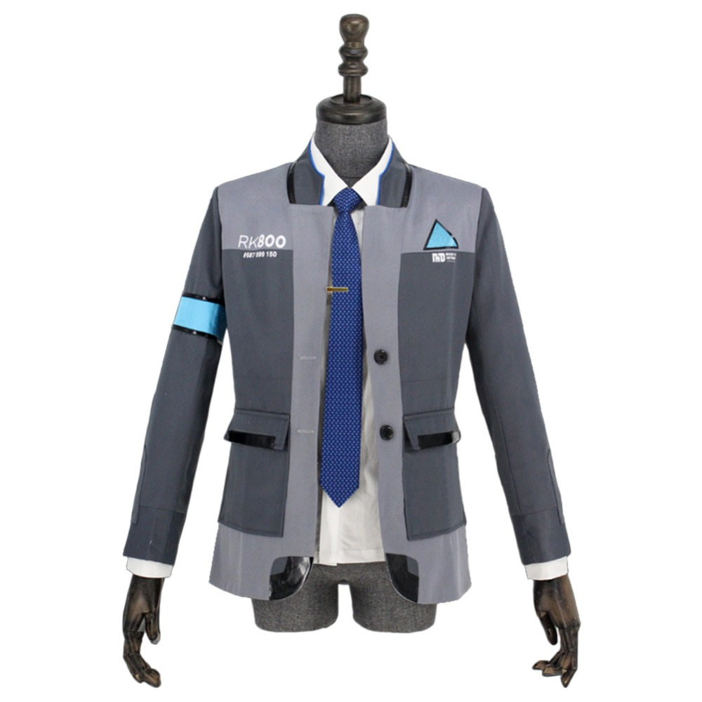 Detroit: Become Human Cosplay Costume Adult Connor RK800 Agent Suit Uniform Tight Uniform Halloween Cosplay Costumes