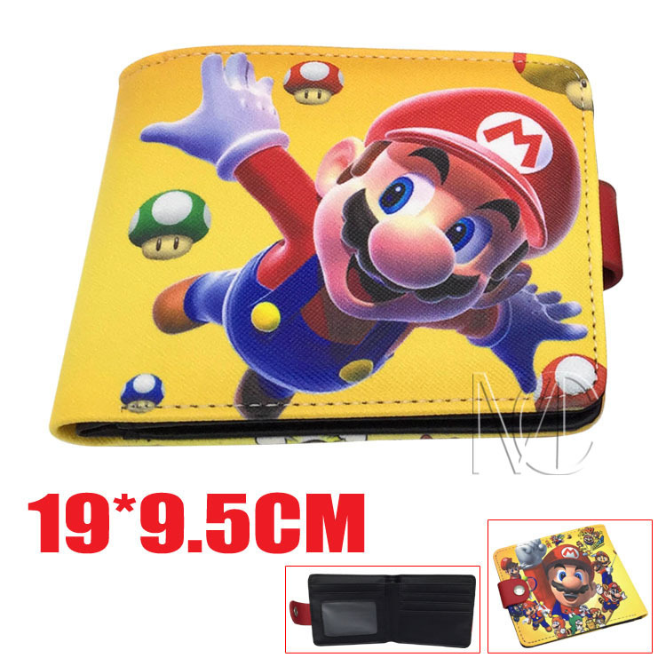 2018 Super Mario Cartoon Wallet Billfold Short PU Leather Purse Slim Money Bag Student Wallets ...