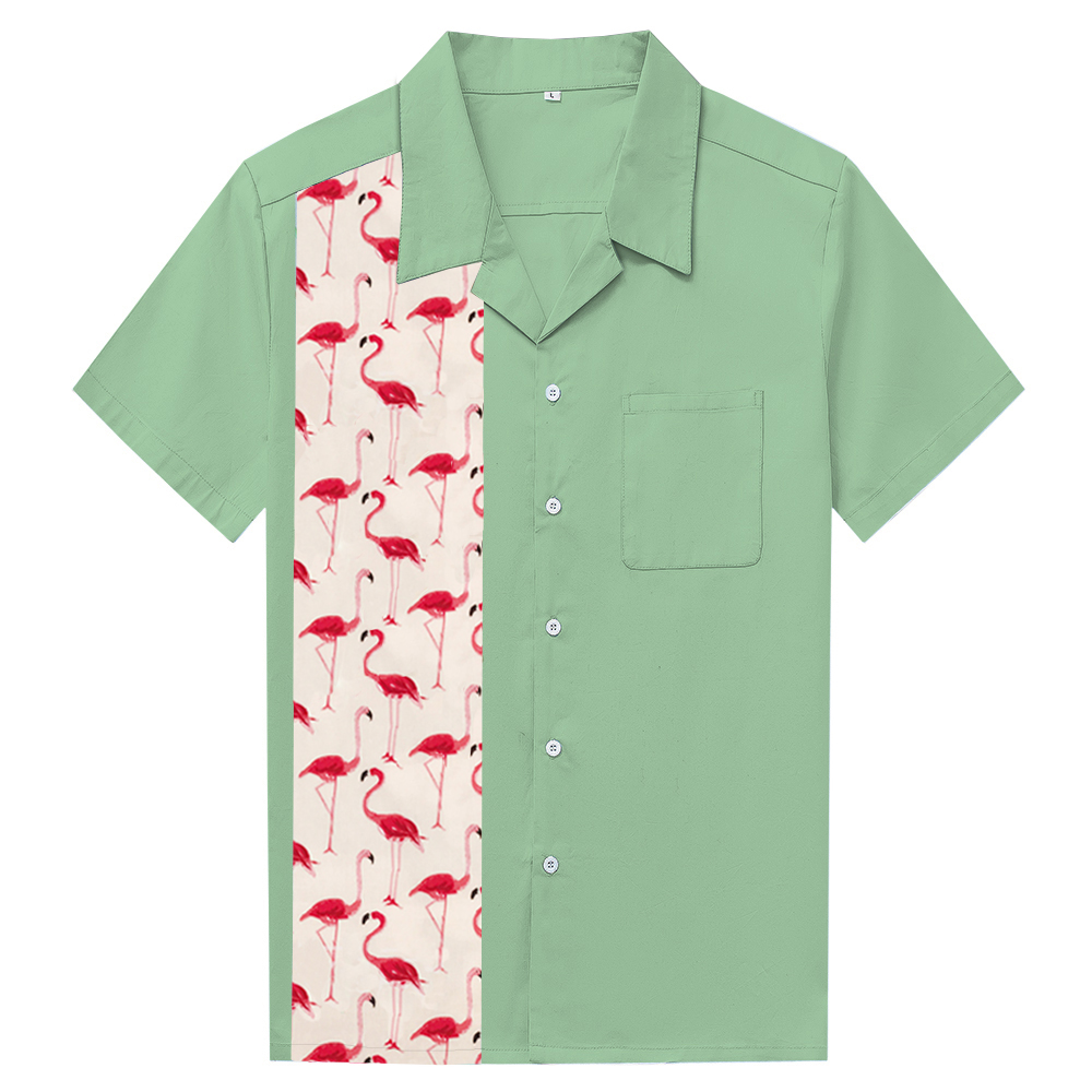 22969489f Dropshipping Clothing Plain Pattern Hawaiian Shirt Mint Green Vintage  Design Retro Short Sleeve Shirts For Family Vacation-in Casual Shirts from  Men's ...