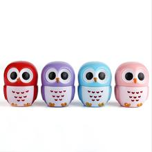 1 Pc Candy Color Owl Moisturizing Lip Balm Natural Plant Sphere Gloss healthy Fruit Embellish Lipstick Makeup Tool