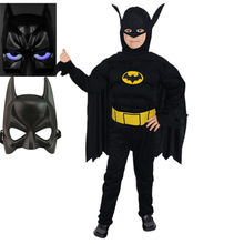 Batman Muscle Costume for Kids Boys Superhero costume with musle stretchy Muscle Dark Knight Batman Children Halloween costumes