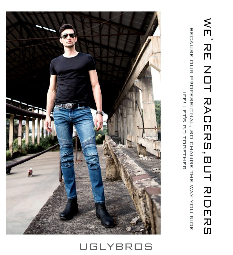 uglyBROS vegas Jeans Hidden Side of The Knee Motorcycle Riding Motorcycles Jeans Trousers Blue uglybros vegas jeans hidden side of the knee motorcycle riding motorcycles jeans trousers blue
