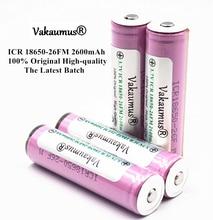 Baterias para Samsung Protegido 100% Original 3.7 V Icr18650-26fm 2600 MAH Recarregável 18650 Bateria e lanterna e carregador Portátil