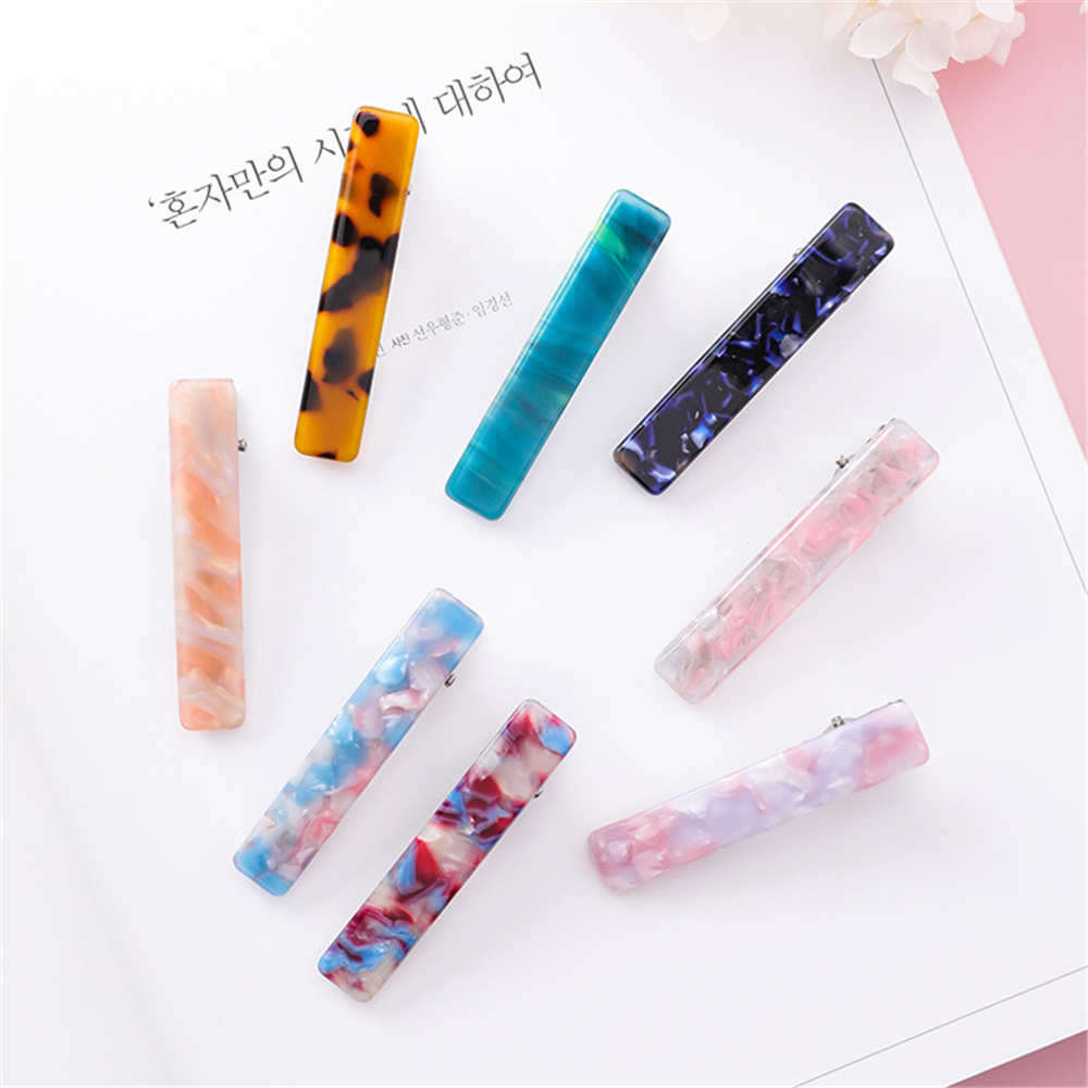 New Hot Resin Acetate Hair Clip Women Hair Accessories Hair Clip Girls Hair Pins Sweet Daily Headwear Barrette For Women Girls
