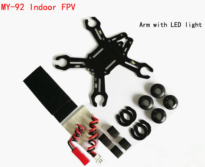 MY-92 Indoor FPV carbon fiber quadcopter rack airplane frame hollow cup 8520 motor F3 brush flight control carbon fiber antistatic brush remove static electricity 1460x1400mm