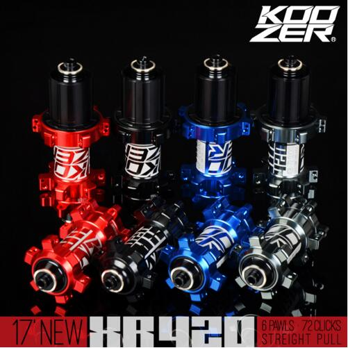 Koozer XR420 Ultra Light 4 Sealed Bearing 24 Holes Straight Pull MTB Mountain Bike Hubs 6 Ratchets Disc Brake Bike Hub novatec ds11sb ds12sb mtb mountain bike hub disc brake bearing bicycle hubs straight pull 24 holes balck red color