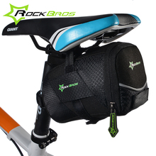 ROCKBROS Bicycle Bike Rear Bag Rainproof Nylon Bike Saddle Bag Outdoor Cycling Mountain Bike Back Seat Tail Pouch Package цена 2017