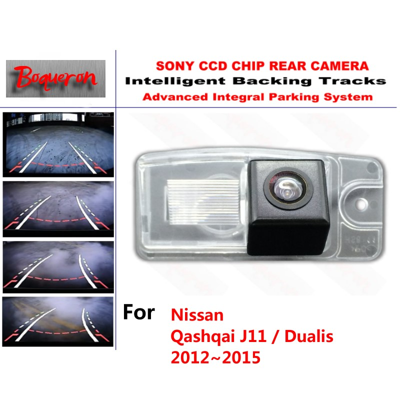 for Nissan Qashqai J11 / Dualis 2012~2015 CCD Car Backup Parking Camera Intelligent Tracks Dynamic Guidance Rear View Camera for toyota 4runner fortuner sw4 2005 2012 ccd car backup parking camera intelligent tracks dynamic guidance rear view camera