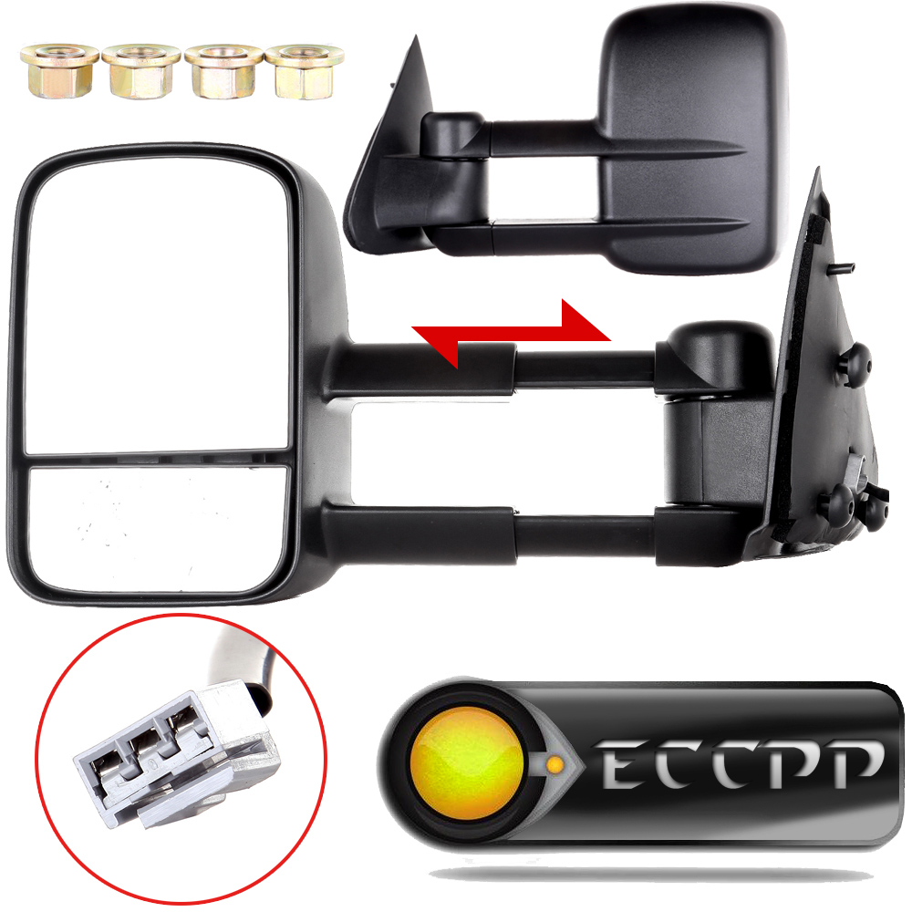Eccpp two side car viewing mirror power fits 1997 1998 1999 2000 2002 2003 ford f150