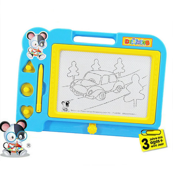 Plastic Magnetic Drawing Board Sketcher Doodle Painting Toy Craft Art For Kids Children Multi Color