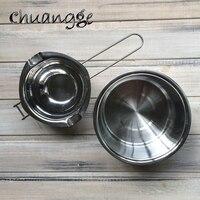 Long Handle Stainless Steel Melting Wax Inside Pot Chocolate Butter Melting Pot Food Grade Pot