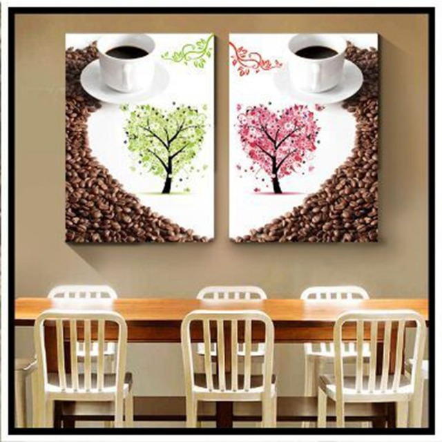 Delicieux Coffee And Love Trees Full Diamond Painting Modern Simple Style Living Room  Decorative Valentineu0027s Day Gifts