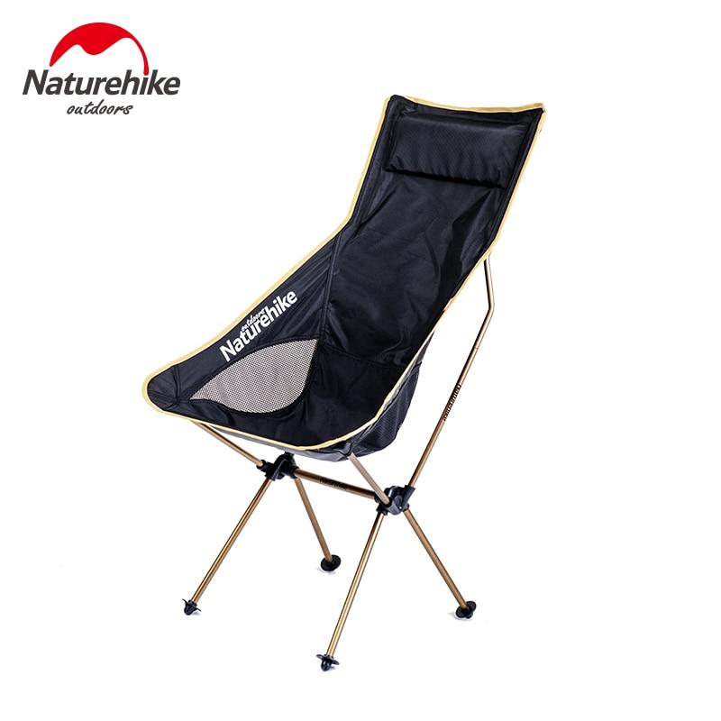 Marca naturehike nueva actualización portátil plegable silla de pesca respaldo s