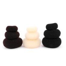 1 pc anel de cabelo donut shaper esponja bun tranças beleza penteado twister feminino ferramentas de estilo de cabelo acessórios para meninas