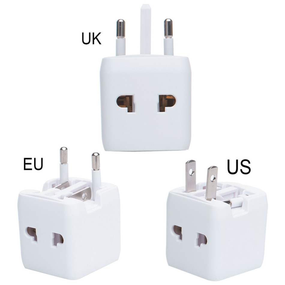 Us to uk ac power plug white black travel wall adapter plug converter - Universal International Plug Adapter 2 Usb Port All In One World Travel Ac Power Charger Adapter With Us Uk Eu Converter Plug