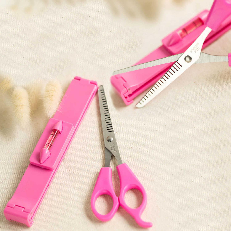 Herramientas de estilismo para el cabello Kit de corte de pelo de acero inoxidable tijeras de corte tijeras de peluquería