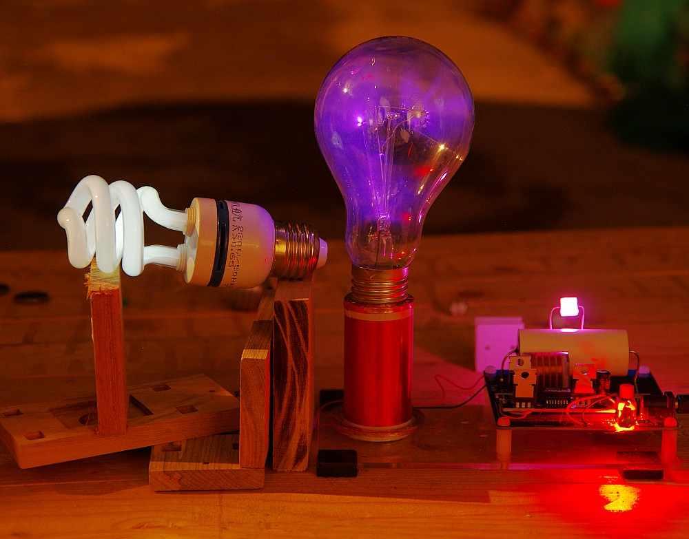 Mini SSTC Kits De Bobina Tesla Iluminaci/ón L/ámpara De Ahorro De Energ/ía Experimentos Estudiantiles