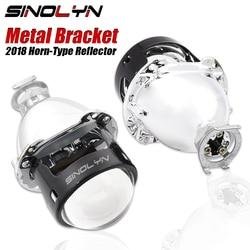 Metal Mini 2.5'' Pro-HL Bi xenon Projector Lens HID Lenses Headlight Retrofit W/WO Mini Gatling Gun/Iris Shroud Car Motorcycle