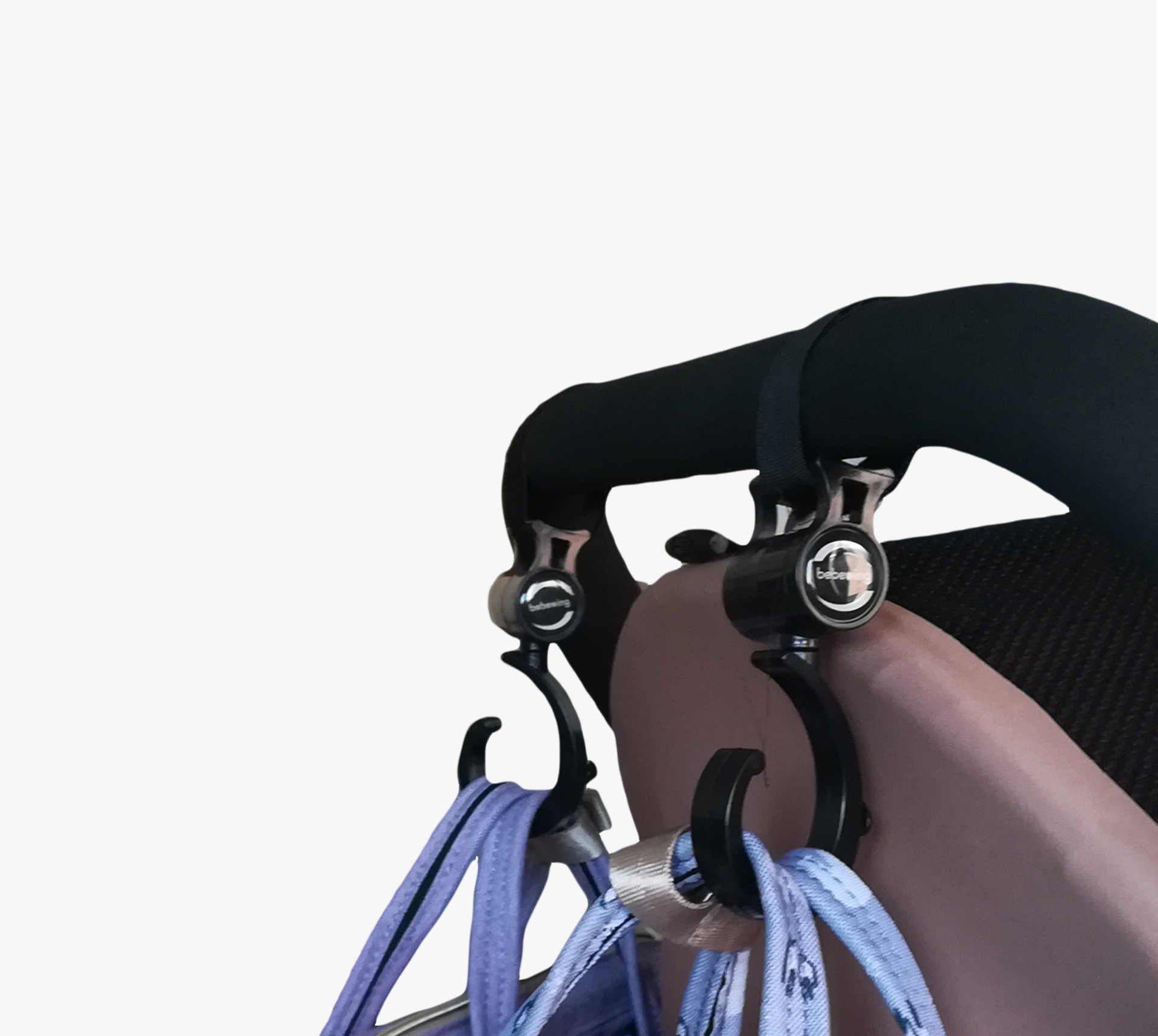 Gancho del Cochecito de bebé bolsa de mamá correa para pañales de bebé bolso con gancho cochecito silla de bebé accesorios cochecito infantil organizador bolsa de pañales gancho