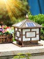 Солнечная колонна огни наружного освещения ландшафта солнечного света для украшения сада ретро Алюминиевый безопасности лампа для двор