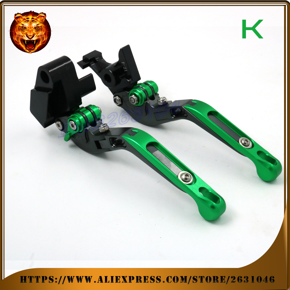 Adjustable Folding Extendable Brake Clutch Lever For kawasaki VERSYS 1000 VERSYS1000 14 15 Free Shipping With logo Motorcycle adjustable folding extendable brake clutch levers for kawasaki versys 1000 w800 zzr1200 zrx1100 1200 8 colors