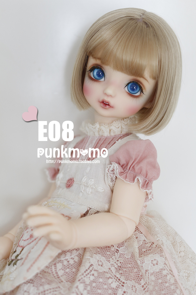 все цены на  1/6 1/4 1/3 BJD Doll accessories wigs gold short hair E08  в интернете
