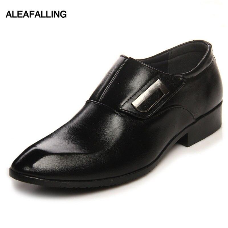 Formelle Schuhe Aleafalling Heraus Atmungs Männer Formale Schuhe Spitz Komfortable Leder Oxford Schuhe Männer Kleid Schuhe Business 37-44 Mds21 Erfrischung