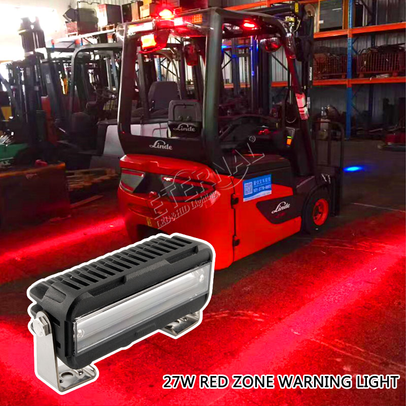 free shipping 12pcs 27W red zone forklift light for construction equipment electrical machinery warehouse safe warning light цены онлайн