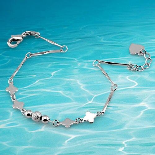2014 brand new jewelry 925 sterling silver link chain bracelet for women