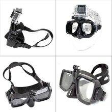 Venda quente do esporte Da Câmera Montar Máscara de Mergulho Scuba Snorkel Óculos de Natação para gopro hero 4 black silver sessão 3 + para xiaomi yi 4 k