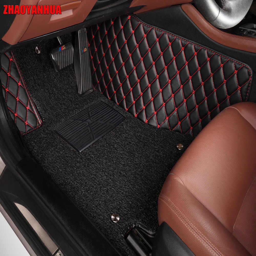 ZHAOYANHUA Car floor mats for Toyota Land Cruiser 200 Prado 150 120 Rav4 Corolla Avalon Highlander Camry car styling liners