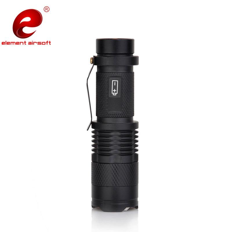elemento airsoft led lanterna mini telescopica zoom 04