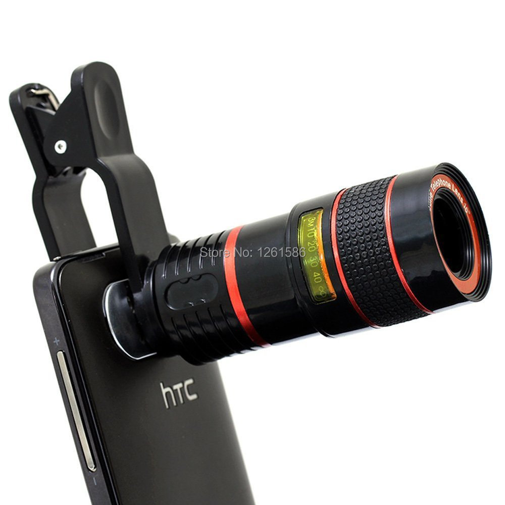 8x Zoom Universal Telephoto Lens Telescope Tripod Mount Monopod Selfie Stick+Remote Shutter