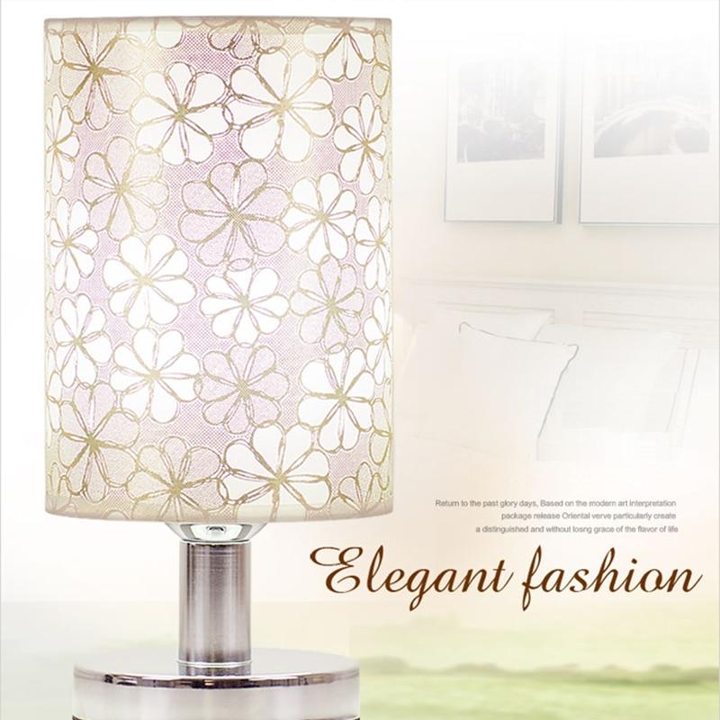 Modern Simple  Table Lamps Living Room Bedroom Bedside Light Study Reading Desk Lamp AC96V-260V +E27 LED Bulb