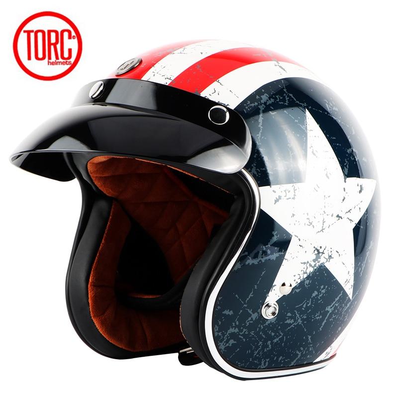 TORC motorcykelhjälm vintage öppet ansikte motorcykel motocross jet - Motorcykel tillbehör och delar - Foto 2
